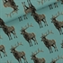 Picture of Deer - M - French Terry - Trellis Blauw